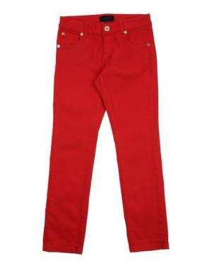 Джинсовые брюки TWIN-SET Simona Barbieri. Цвет: красный