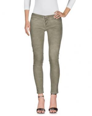 Джинсовые брюки TAKE-TWO. Цвет: зеленый-милитари
