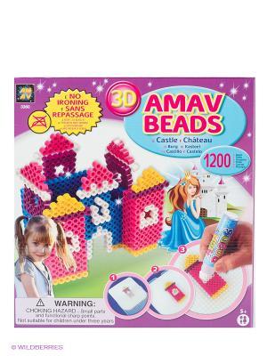 Набор Замок принцессы AMAV. Цвет: синий, розовый, желтый