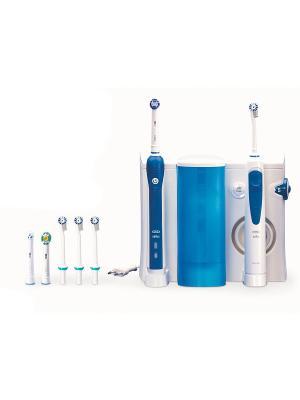 Электрическая зубная щетка Oral-B Зубной центр 3000+Ирригатор ORAL_B. Цвет: белый, синий