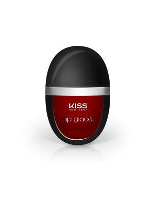 Kiss Лаковая помада для губ Real Red Lip Glace  KLLG07. Цвет: красный