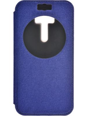 Чехол-книжка для ASUS ZenFone 2 Selfie ZD551KL MS AW skinBOX. Цвет: синий