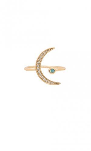 Кольцо moon joolz by Martha Calvo. Цвет: металлический золотой