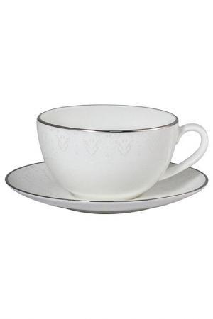 Чашка 300 мл с блюдцем 16 см Narumi. Цвет: белый