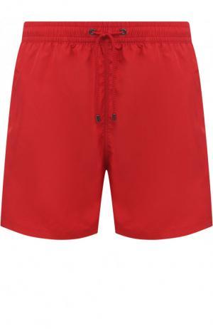 Однотонные плавки-шорты Zimmerli. Цвет: красный