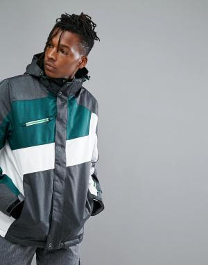 Killtec Горнолыжная куртка с капюшоном Makaio. Цвет: зеленый