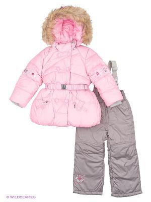 Комплект Baby Line. Цвет: серый, розовый
