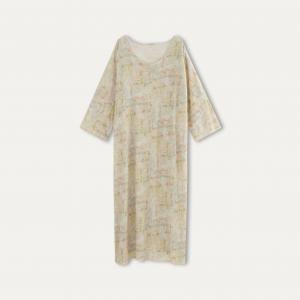 Платье FLAVOUR LONG DRESS MES DEMOISELLES. Цвет: рисунок/экрю