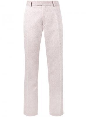 Прямые брюки с люрексом Jour/Né. Цвет: розовый и фиолетовый