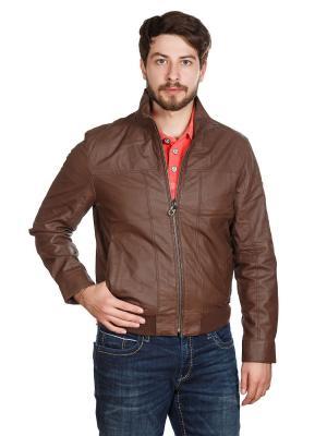 Куртка Trapper. Цвет: коричневый