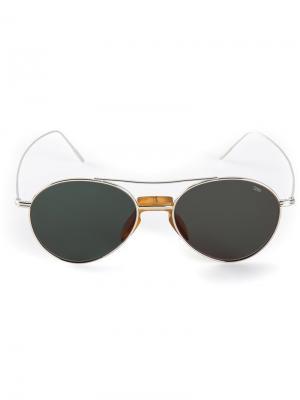 Солнцезащитные очки авиатор Eyevan7285. Цвет: зелёный