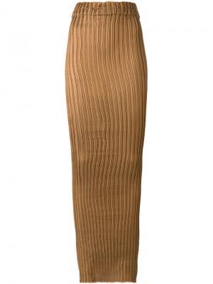 Длинная плиссированная юбка Iris Van Herpen. Цвет: коричневый