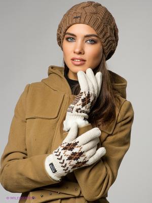 Перчатки Modo. Цвет: бежевый, коричневый