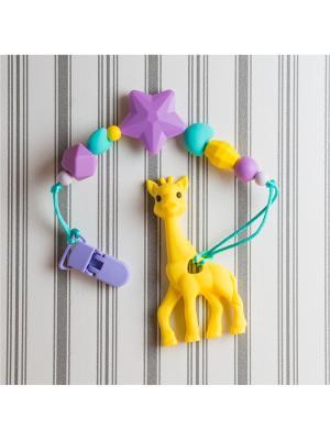 Игрушки-подвески Краски лета. Цвет: бирюзовый, желтый, фиолетовый