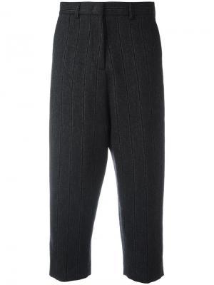 Укороченные брюки в полоску Alberto Biani. Цвет: серый