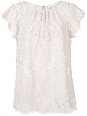 Lace blouse Joie. Цвет: розовый и фиолетовый