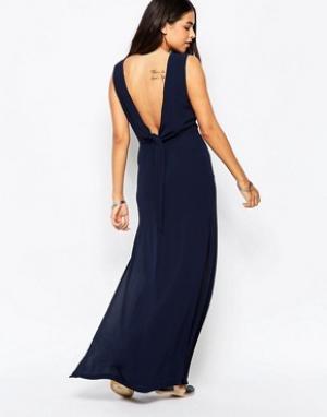 Goldie Платье макси. Цвет: темно-синий