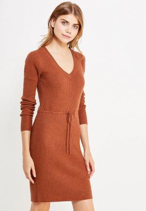 Платье Vila. Цвет: коричневый