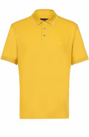 Хлопковое поло с короткими рукавами Z Zegna. Цвет: желтый
