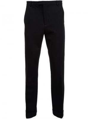 Укороченные брюки кроя слим Atm Anthony Thomas Melillo. Цвет: чёрный
