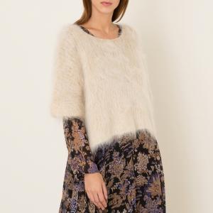 Пуловер короткий женский BREDA MES DEMOISELLES. Цвет: бежевый,серый