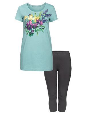 Пижама PELICAN. Цвет: светло-голубой