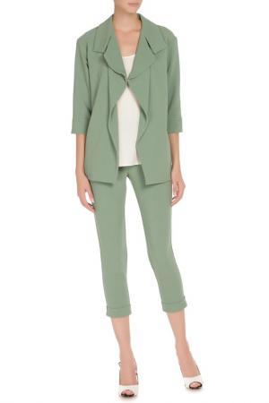 Костюм: жакет, брюки Adzhedo. Цвет: зеленый