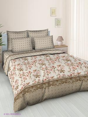 Комплект постельного белья Jardin. Цвет: бежевый, молочный, розовый