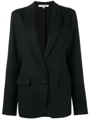 Однобортный пиджак Alexander Terekhov. Цвет: чёрный
