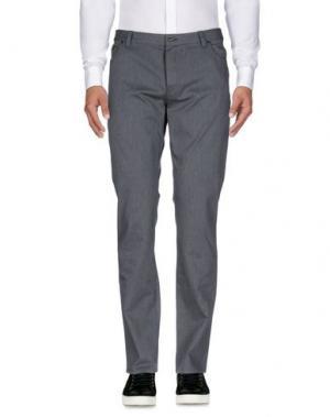Повседневные брюки JOHN VARVATOS. Цвет: свинцово-серый