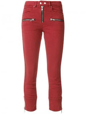 Байкерские джинсы-скинни Pelona Isabel Marant Étoile. Цвет: красный