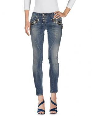 Джинсовые брюки W LES FEMMES. Цвет: синий