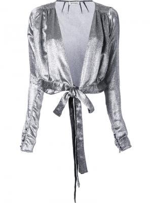 Болеро с завязками Patty Attico. Цвет: металлический