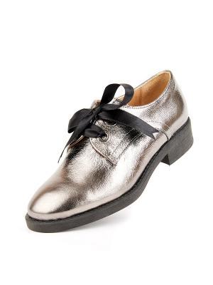 Туфли Lottini. Цвет: серый, серебристый