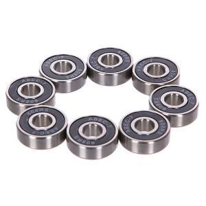 Подшипники для скейтборда NORD Skateboards ABEC 7 Grey. Цвет: серый,черный