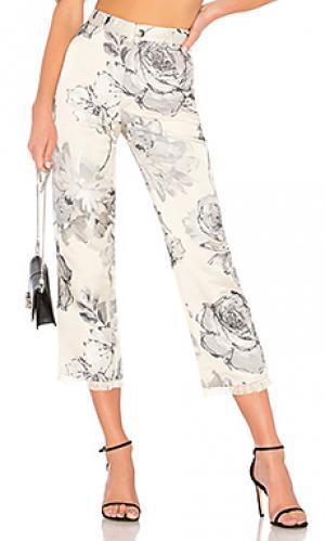 Укороченные брюки LPA. Цвет: серый