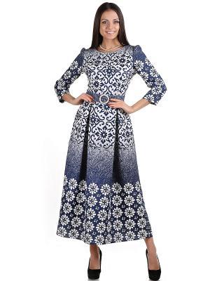 Платье OLIVEGREY. Цвет: белый, синий
