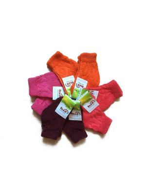 Носки 8пар Еско 7С12-12-2 цвет бор. корал,оранж. роз.. Цвет: коралловый,оранжевый,розовый