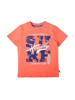 Футболка OPTOP. Цвет: светло-оранжевый
