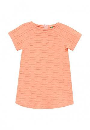 Платье United Colors of Benetton. Цвет: коралловый