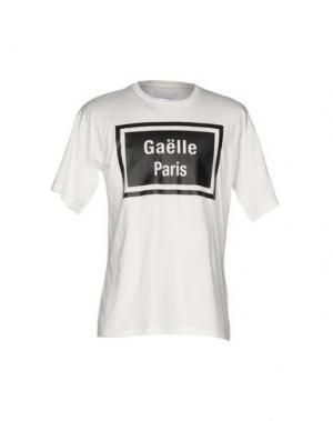 Футболка GAëLLE. Цвет: слоновая кость