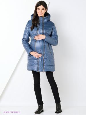 Пальто EUROMAMA. Цвет: серо-голубой