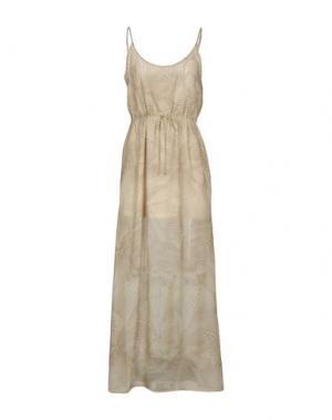 Длинное платье EMMA&GAIA. Цвет: бежевый