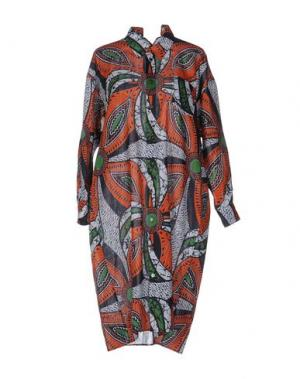 Платье до колена JUNYA WATANABE COMME des GARÇONS. Цвет: ржаво-коричневый