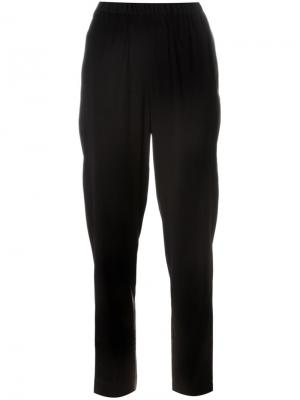 Зауженные саржевые брюки T By Alexander Wang. Цвет: чёрный