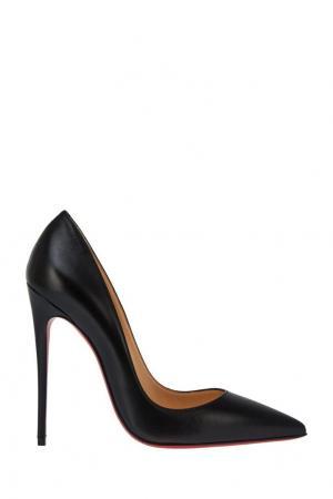 Черные кожаные туфли So Kate 120 Christian Louboutin. Цвет: none