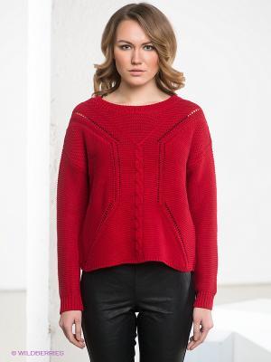 Пуловер OBJECT. Цвет: красный