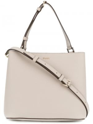 Классическая сумка-мешок Donna Karan. Цвет: серый