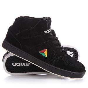 Кеды кроссовки высокие  Atlas Black/Rasta Axion. Цвет: черный