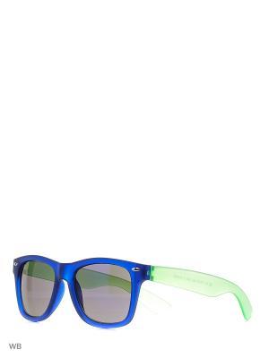 Солнцезащитные очки Modis. Цвет: синий, зеленый